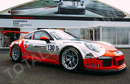 2ee5b972c1 motorsport wraps by Totally Dynamic Racing Porsche wrap GB Moto truck ...