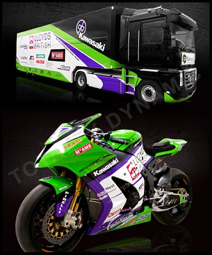 GB Moto truck and bike wrap