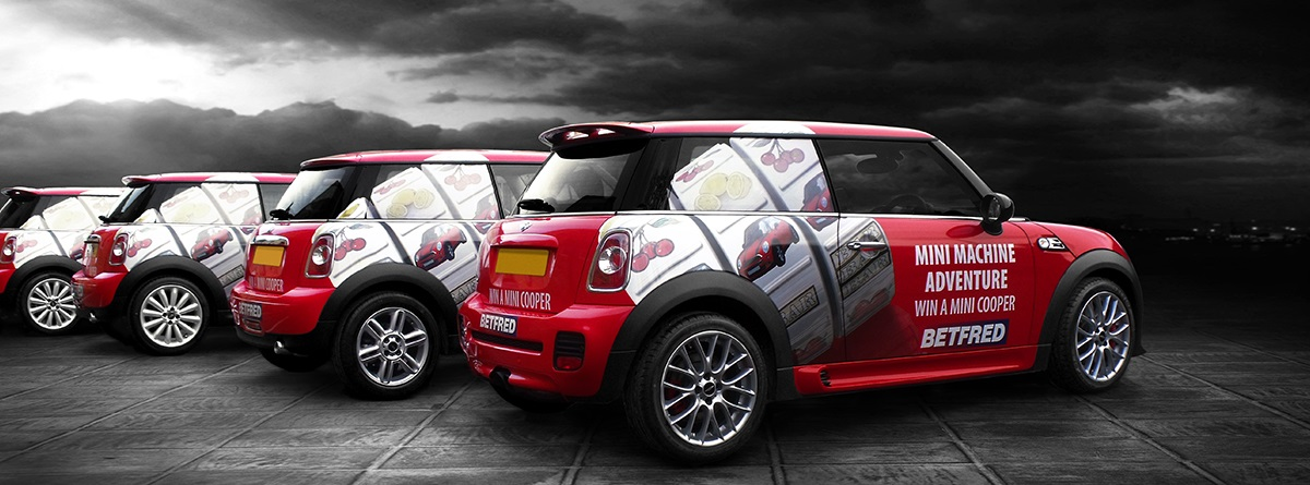 Fleet vehicle wraps for BetFred by Totally Dynamic