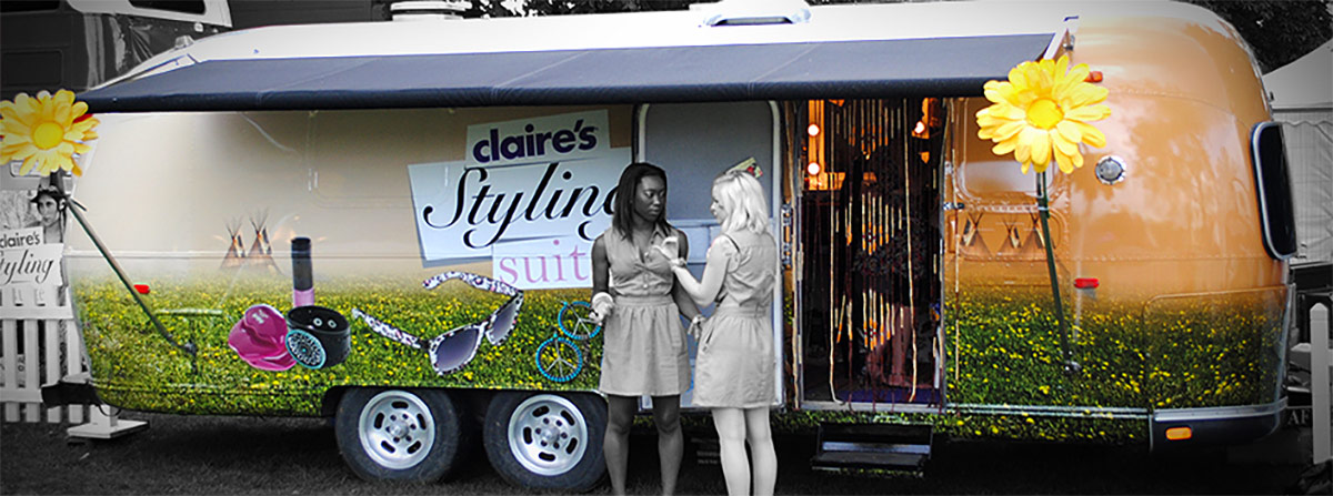 Airstream trailer wrap for Claire's Accessories by Totally Dynamic