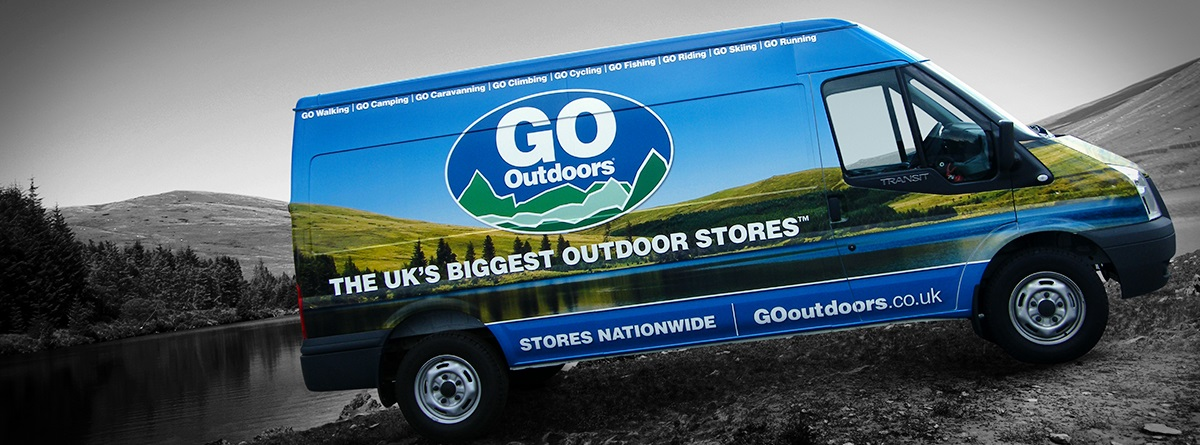 Van graphics wrap for GoOutdoors & Van graphics signwriting and wrapping by Totally Dynamic