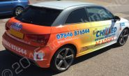 Audi A1 vinyl wrapped for the Chilled Academy