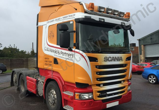 Totally Dynamic Scania Lorry Cab Vinyl Wrapped For G W