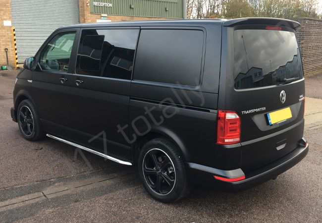 Totally Dynamic Vw Transporter Vinyl Wrapped In A Satin