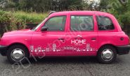 Taxi cabs vinyl wrapped for Home Estate Agents