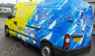 Renault Master van fully wrapped in a printed vinyl van wrap by Totally Dynamic North London