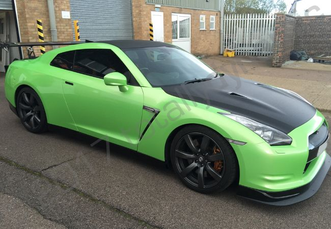 Totally Dynamic Nissan Gtr Vinyl Wrapped In A
