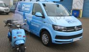 VW Transporter and Scooter vinyl wrapped for CCTV Camera London