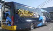 Coach fully vinyl wrapped for William Hill