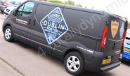 Renault Trafic fully vinyl wrapped in a printed van-wrap design for Guinness by Totally Dynamic Norfolk