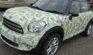 MINI Countryman in a printed vinyl wrap for Bohotanicals