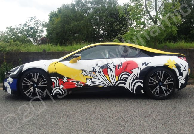 Totally Dynamic Bmw I8 Fully Vinyl Wrapped For Cosatto In A