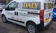 Citroen Berlingo with cut vinyl graphics for the Daly Group