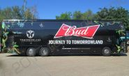Coach vinyl wrapped for Budweiser's Tomorrowland Project