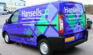 Peugeot Expert van fully wrapped in a printed vinyl van wrap for Hansells Solicitors by Totally Dynamic Norfolk