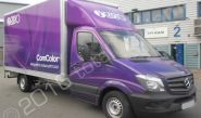 Mercedes Sprinter Luton Box van wrapped for Com Colour
