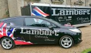 Ford Fiesta fleet vinyl wrapped for Lamberts