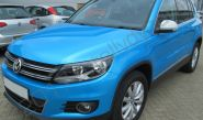 VW Tiguan vinyl wrapped in a Pearlescent blue car wrap