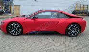 BMW i8 Fully vinyl wrapped in matt laminated red chrome