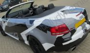 Audi RS4 vinyl wrapped in a printed grey camouflage car wrap