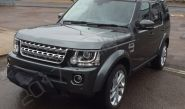 Land Rover Discovery vinyl wrapped in a gloss grey metallic car wrap