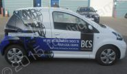 Toyota Aygo vinyl wrapped for Building Control Surveyors