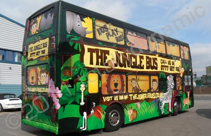 Double decker bus wrapped in fully printed bus by Totally Dynamic South London