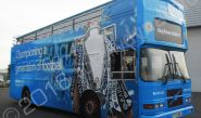 Open top bus vinyl wrapped for Barclays & Leicester City FC