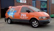 Toyota Previa - designed and wrapped by Totally Dynamic Birmingham