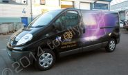 Renault Trafic fully vinyl wrapped in a printed van wrap design for ETS by Totally Dynamic North London