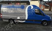 Mercedes Sprinter vinyl wrapped for Speedy Products
