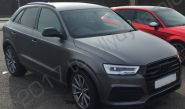 Audi Q3 vinyl wrapped in a matt metallic grey car wrap