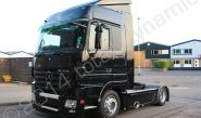 Mercedes Actros tractor unit fully vinyl wrapped in gloss black wrapping film by Totally Dynamic Norfolk