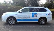 Mitsubishi Shogun part-wrapped in a vinyl car-wrap design for Belissima Exclusives by Totally Dynamic Manchester