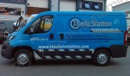 Peugeot Boxer van fully vinyl wrapped for the Drain Station
