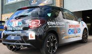 Citroen DS3 fully vinyl wrapped in a printed car wrap with reflective vinyl detailing by Totally Dynamic Norfolk