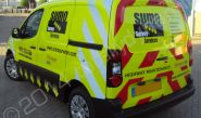 Citroen Berlingo fully wrapped for Sumo Survey Services in a printed vinyl van wrap design by Totally Dynamic South London