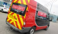 Ford Transit Van fully wrapped in a printed vinyl van wrap by Totally Dynamic North London