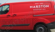 Ford Transit van vinyl wrapped for Marston Properties