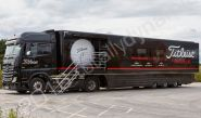 Titleists European Tour Support Vehicle fully vinyl wrapped