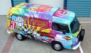 VW Campervan - designed and wrapped by Totally Dynamic North London