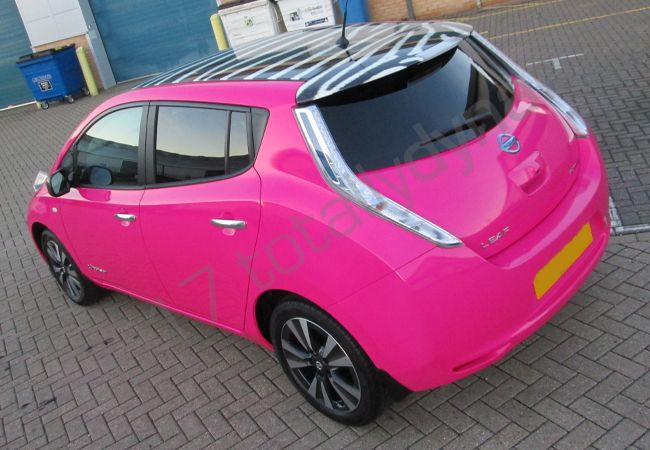 Totally Dynamic Nissan Leaf Fully Wrapped In A Colour