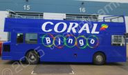 Open Top Bus vinyl wrapped for Coral Bingo