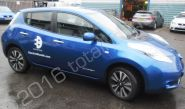 Nissan Leaf vinyl wrapped for Electric Blue