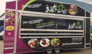 Catering Trailer fully vinyl wrapped for Just Cos Catering