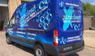 Ford Transit van vinyl wrapped for XtraClean