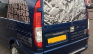 Mercedes Vito part-wrapped for T Wilson Stonecutting