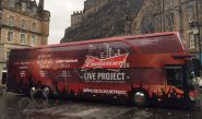 Coach fully vinyl wrapped for Budweiser