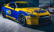 Nissan GT-R vinyl wrapped for Litchfield & Bilstein
