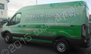 Ford Transit van fully wrapped for Ricky Tyler Landscapes in a printed vinyl vehicle wrap design by Totally Dynamic North London